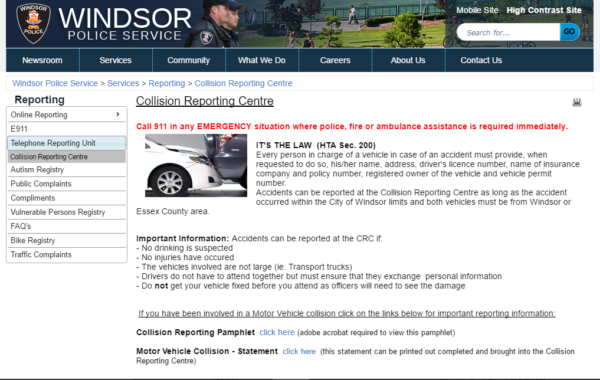 Windsor Collision Reporting Center